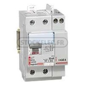 Interrupteur diffrentiel bipolaire 63A - 230V - Type A - 30mA -  vis - dpart haut - Stockelec