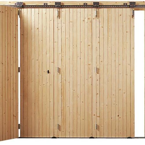 Porte de garage les diff rents types d 39 ouverture for Porte de garage coulissante bois