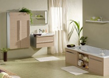 jonc de mer salle de bain pose du jonc de mer dans une salle de bain. Black Bedroom Furniture Sets. Home Design Ideas